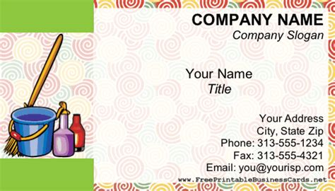 Free Business Card Templates For Cleaning Services by House Cleaning Business Cards For Free Printable House