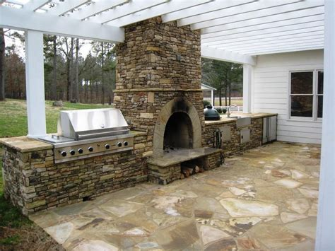 exterior kitchen how to design outdoor kitchen with pizza oven to make it