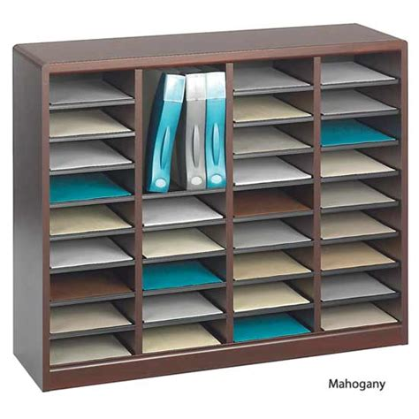 paper sorter shelves safco products ez stor literature organizer 36 openings 9321 chart magazine and literature