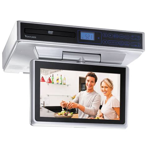 under cabinet radio tv kitchen venturer klv39103 10 quot kitchen lcd tv dvd combo klv39103 b h