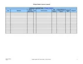 lessons learned template excel lessons learned template peerpex