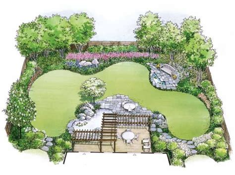 Backyard Layouts Ideas Eplans Landscape Plan Water Garden Landscape From Eplans House Plan Code Hwepl11452 Yard