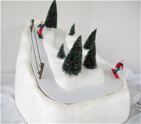 animated ski lift decoration department 56 ski slope animated decoration excellent ebay