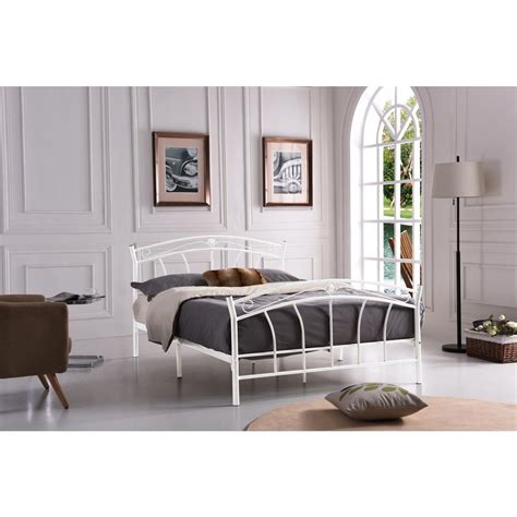 queen metal headboard and footboard hodedah white queen size metal panel bed with headboard