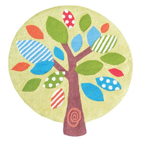 Round Tree Rug And Nursery Necessities In Interior Design Childrens Rugs