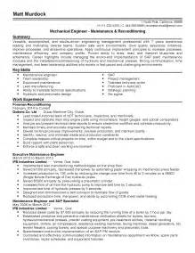 resume format for maintenance engineer professional maintenance engineer templates to showcase your talent myperfectresume