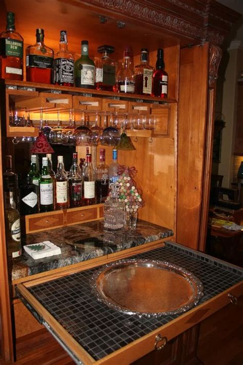 Repurposed Bar Repurposed Entertainment Center As A Bar Tiny House