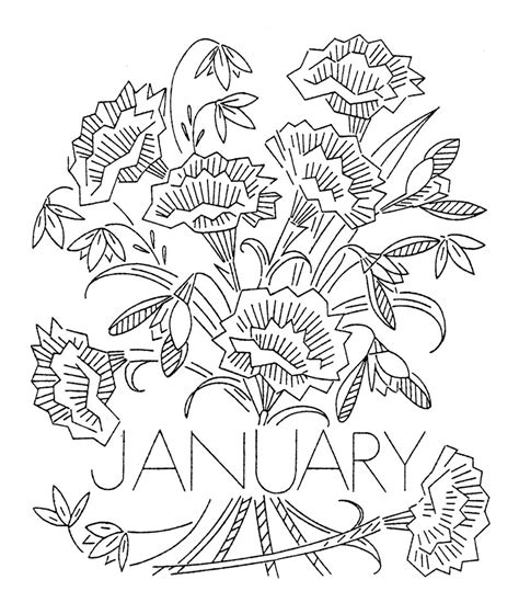 flowers of the month coloring pages free coloring pages