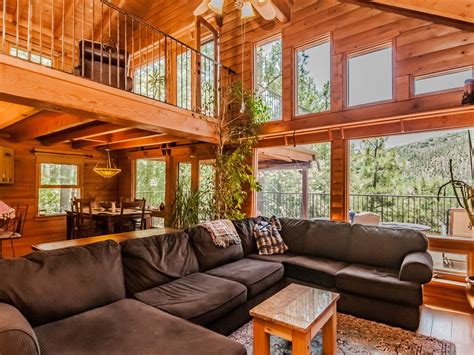 Contemporary Cabin contemporary log cabin nestled in towering pines vrbo