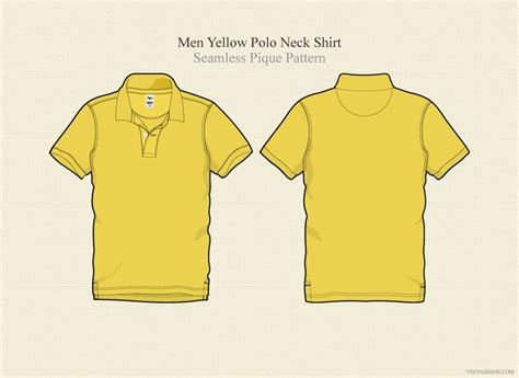 polo t shirt pattern vector men yellow polo neck t shirt vector illustrations on