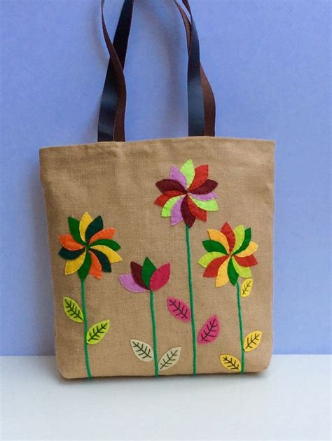 Handmade Jute Bags - 1000 ideas about tote bags handmade on tote