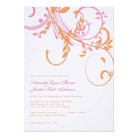 Cheap Wedding Invitations Pink And Orange by 17 Best Images About Pink And Orange Wedding