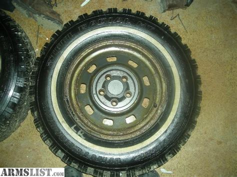 Jeep Wrangler Rims And Tires For Sale Armslist For Sale Trade Studded Snow Tires And Rims