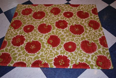 how to make a throw rug make a 1hour project throw rug from upholstery fabric sweetwater style
