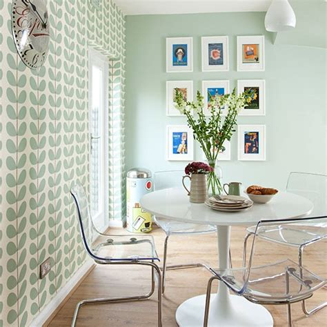 Green Kitchen Dining Room Pale Green Modern Retro Dining Area Decorating