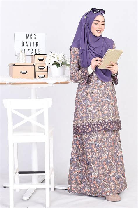 Nira Purple Dress baju kurung batik naira purple muslimahclothing