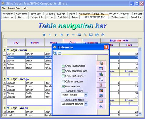 java swing layout manager opiniones de swing java
