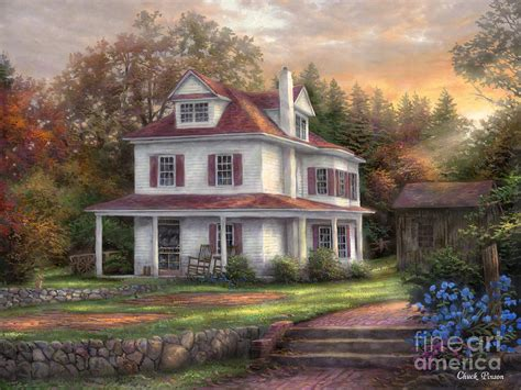 house paintings stone terrace farm painting by chuck pinson