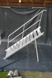 alu treppe mit podest aluminium treppe occasionen hebetechnik alluminium