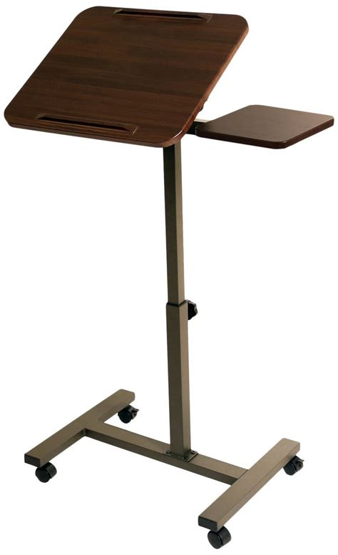 Seville Classics Mobile Laptop Desk Cart With Side Table Laptop Desk Cart