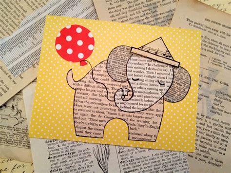handmade cards templates handmade ephemera elephant cards template tip junkie