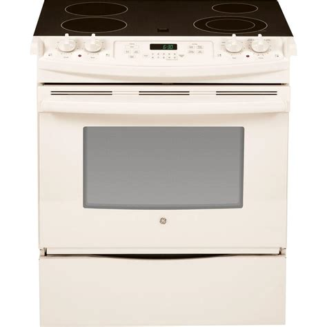 Electric Cooktop 30 Ge 4 4 Cu Ft Slide In Electric Range With Self Cleaning