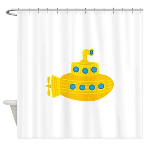 yellow submarine shower curtain yellow submarine shower curtain by robyriker
