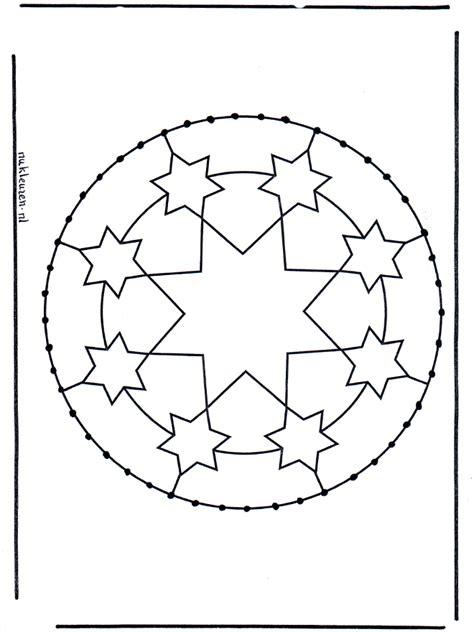 borduurkaart  borduurkaart mandala knutselen