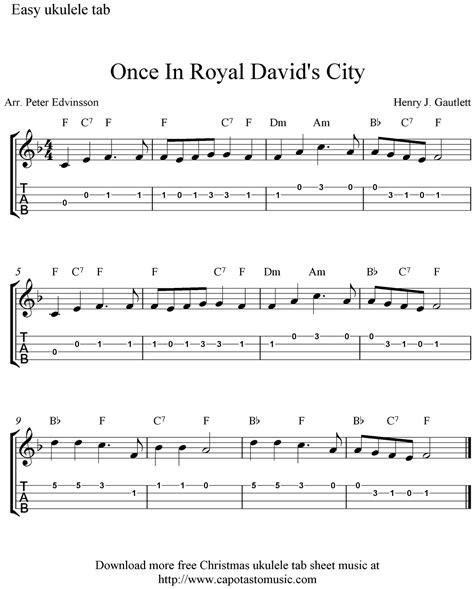 printable sheet music for ukulele free christmas ukulele tab sheet music once in royal