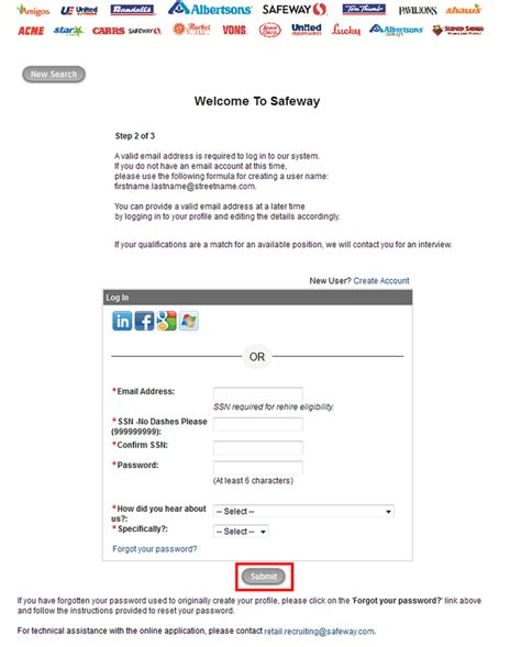 safeway application form how to apply for safeway at safeway careers