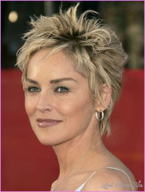 sharon stone new haircut sharon stone short hairstyles latestfashiontips com