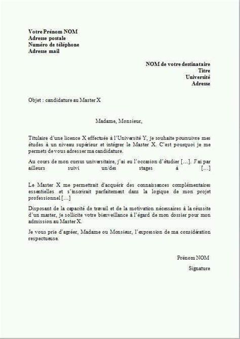 Lettre De Motivation Ecole Rh Lettre De Motivation Pour Un Master Fadil Ayoub