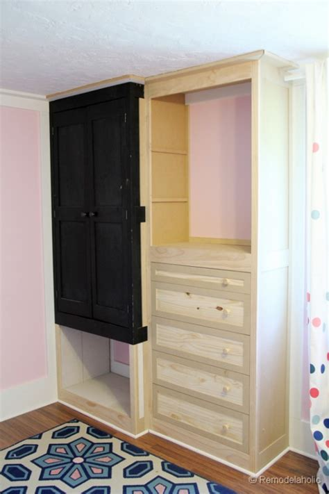 How To Build A Built In Closet by Remodelaholic Built In Closet Hack
