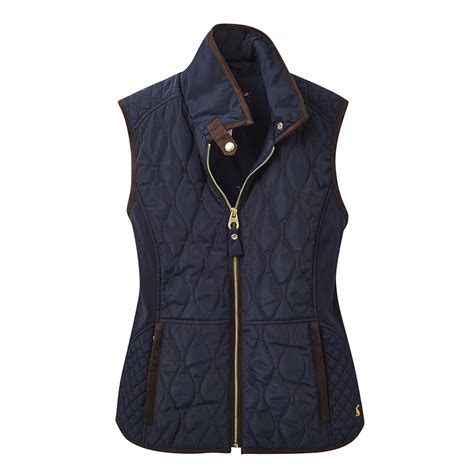 Womens Quilted Gilet by Joules Braemar Quilted Gilet For In Marine Navy