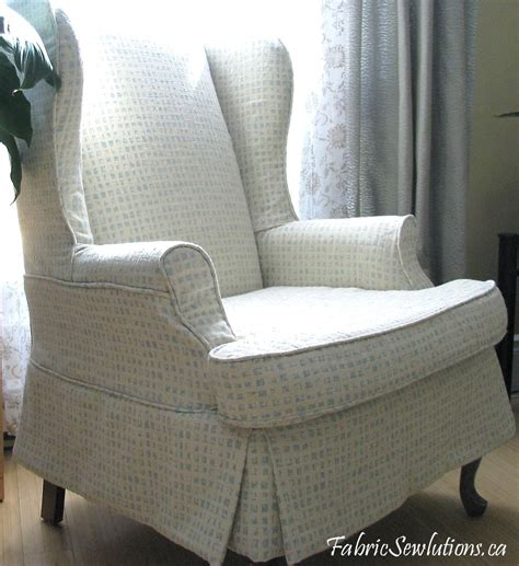 wingback sofa slipcover wingback chair slipcover stitches and threads
