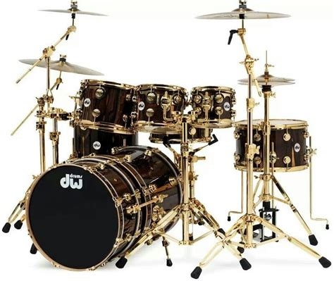 imagenes baterias musicales dw drum set dw nice black and gold finish sweet sets