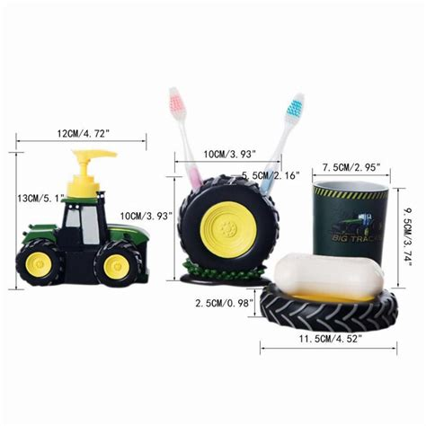 tractor bathroom decor 4 pcs kid cartoon bathroom accessories cute tractor