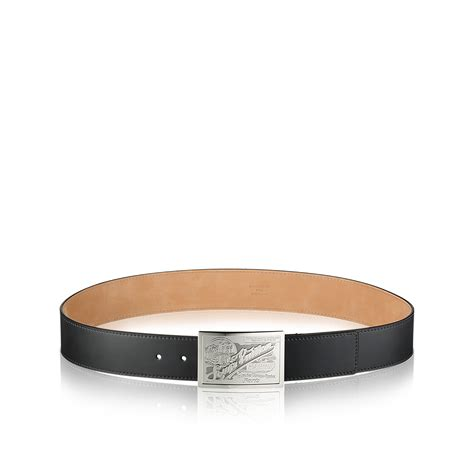 Jual Belt Lv Calf Leather Black With Silver Buckle Mirror Quality 5 louis vuitton calf leather belt in black for lyst