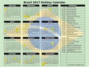 Calendar 2018 Brasil Brazil 2017 2018 Calendar
