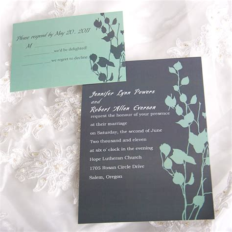 custom wedding invitations free personalized rustic vintage lovely leaves wedding card