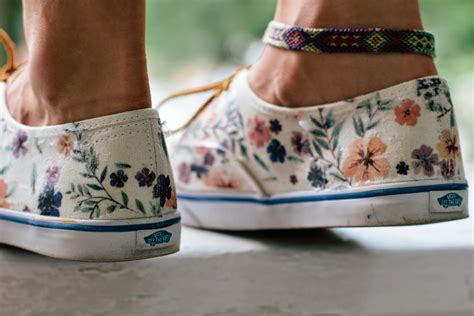 diy floral shoes always rooney floral vans restyle diy