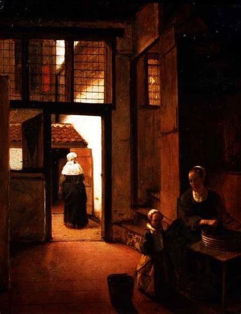 interior of a dutch house interior of a dutch house pieter de hooch as art print or hand painted oil
