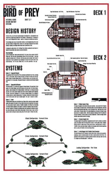 Paramount Floor Plan star trek blueprints b rel class klingon bird of prey