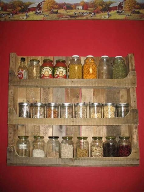 diy barn wood spice rack 30 of the most extraordinary beautiful kitchen diy pallet projects