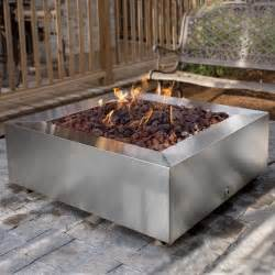 Stainless Steel Firepit Alpine 42 Inch Stainless Steel Square Pit Gas The Grill Store And More
