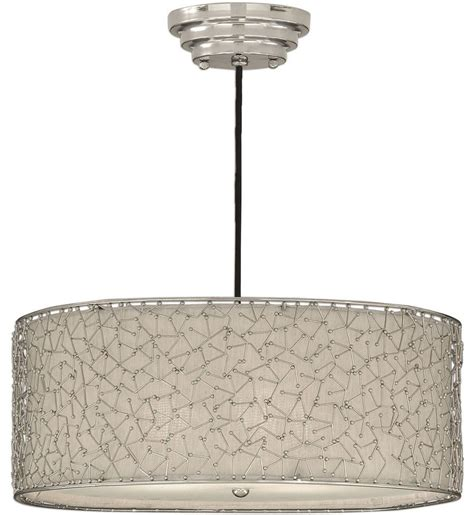 Uttermost Brandon Uttermost 21154 Brandon Nickel 3 Light Drum Pendant