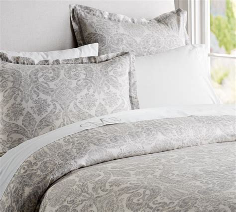 Gray Damask Bedding by Damask Duvet Cover Sham Smoke Gray