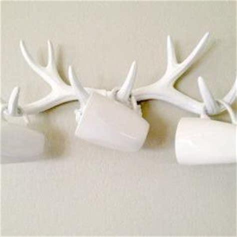 faux deer wall decor faux deer antlers wall decor jewerly rack on luulla