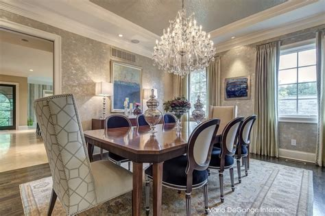 Luxury dining room transitional dining room st louis by maria degange