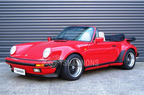 porsche convertible sold porsche 911 3 2 convertible auctions lot